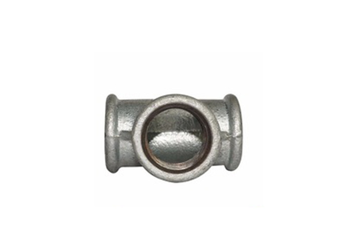 60 Degree Cone Branch Malleable Iron Tee BSP Pipe Fittings Abrasive Resistance