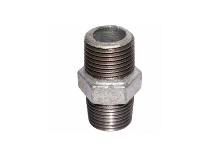 Long Short Galvanized Pipe Fitting Nipple Cast Iron Nipple Square DIN 2982 / 2999