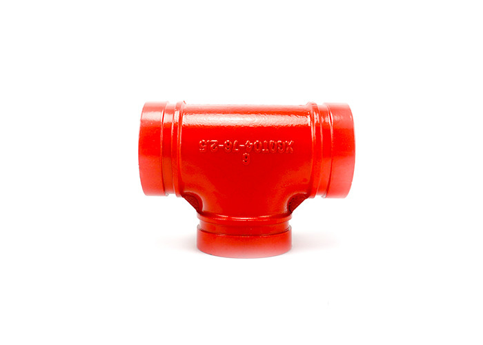 Smooth Surface Ductile Iron Pipe Fittings Drain Pipe Tee No Leakage