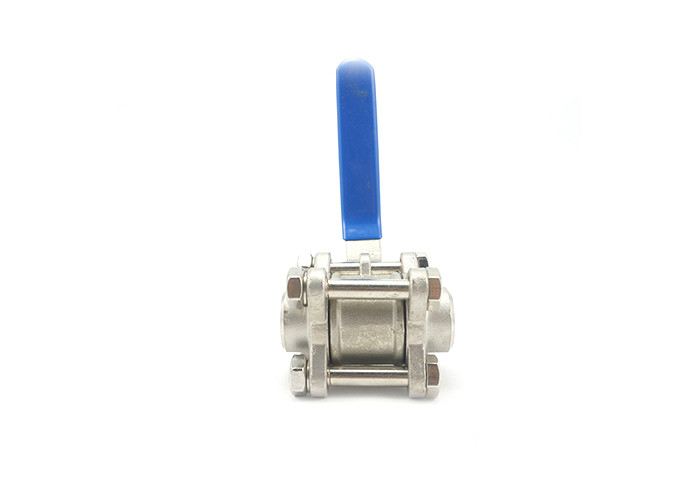 Durable High Pressure Stainless Steel Valves Three Piece Ball Valve Eco Friendly