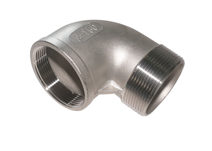 Casting Stainless Steel Pipe Fittings , Male / Female Stainless Steel 90 Degree Elbow