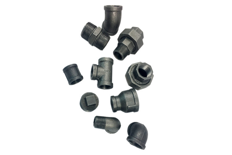 1/2 Inch Malleable Iron Pipe Fittings Industrial Pipe Fittings High Toughness